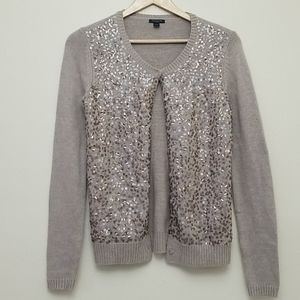 Ann Taylor Wool/Angora/Cashmere Sequined Cardigan